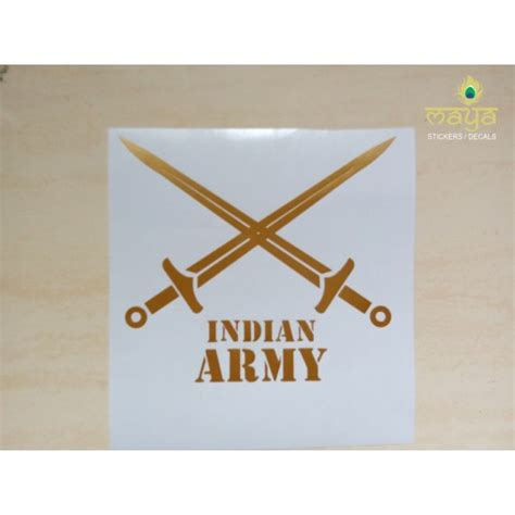 Wall Sticker Designs indian army logo stickers for bikes cars laptop