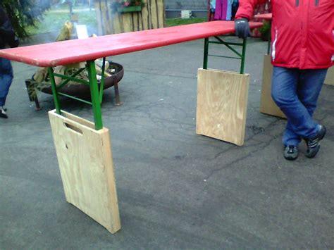 bierzeltgarnitur selber bauen aus biertisch wird stehtisch grillforum und bbq www