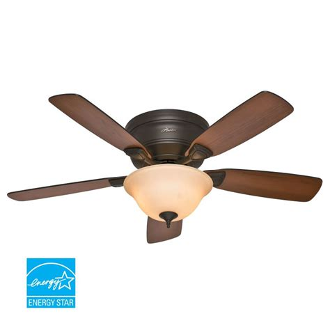 48 inch ceiling fan blades hunter 52063 new bronze 48 quot flush mount energy star rated