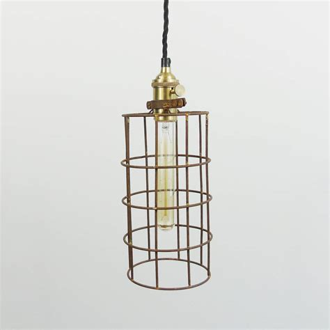 Cage Pendant Light Industrial Wire Cage Pendant Light By The Den Now Notonthehighstreet