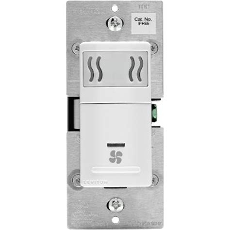 bathroom fan automatic humidity sensor buy the leviton r02 iphs5 lw humidity sensor fan control white hardware world