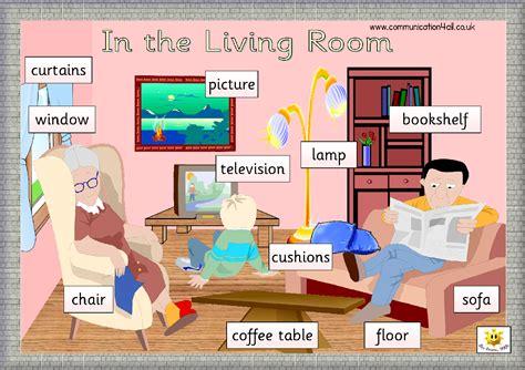 In The Livingroom by Living Room Vocabulary Engleza La Grădi