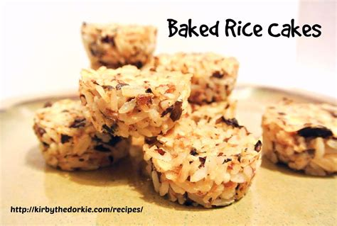 rice for dogs baked rice cakes recipe for dogs