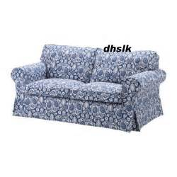 ikea ektorp 2 seat sofa cover klintbo blue loveseat slipcover floral bezug