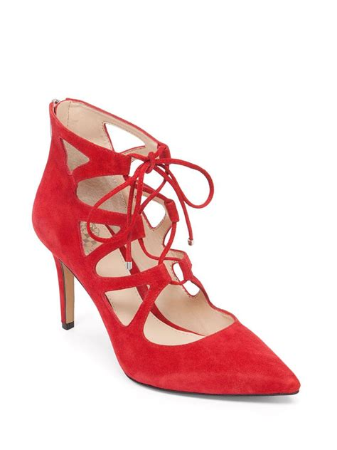 Exclusive Wedges Lace Fox 12cm Murah vince camuto bodell lace up suede sandals in lyst