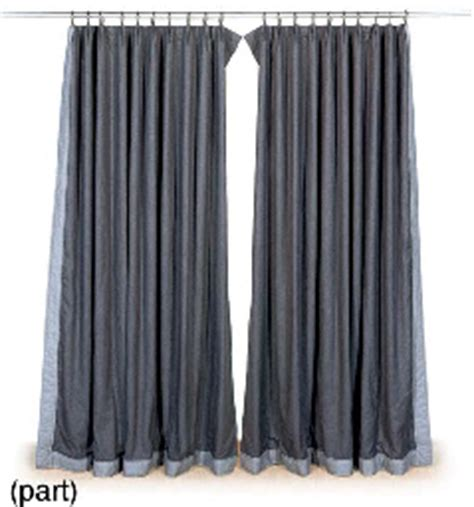flannel curtains a pair of grey wool flannel curtains late 20th century