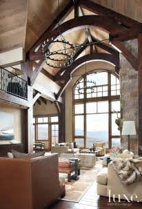 luxe home interior contemporary forms meet rustic nuances in vail valley home
