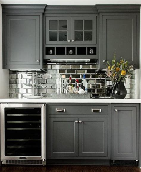 Mirrored Backsplash In Kitchen by Mirrored Subway Tile Backsplash