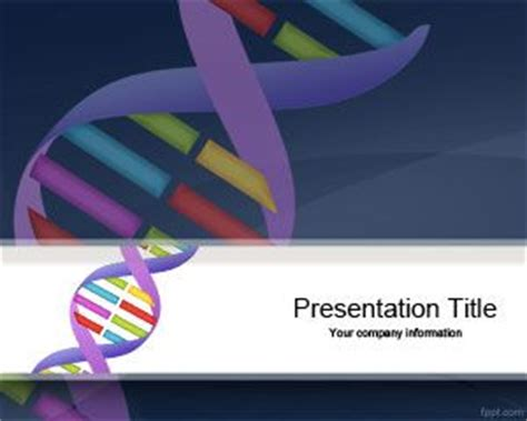templates powerpoint genetics free genetic powerpoint template