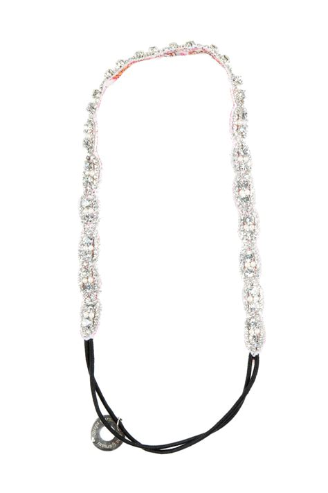 Bj 1211 Slim Elastic Jumpsuit deepa gurnani silver beaded headband from georgetown by chic shoptiques