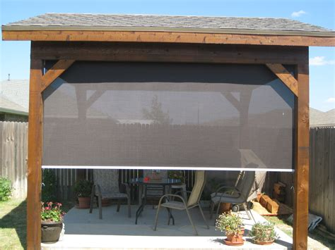 Patio Shades by Tucson Patio Roller Shades Keep Cool Without Blocking