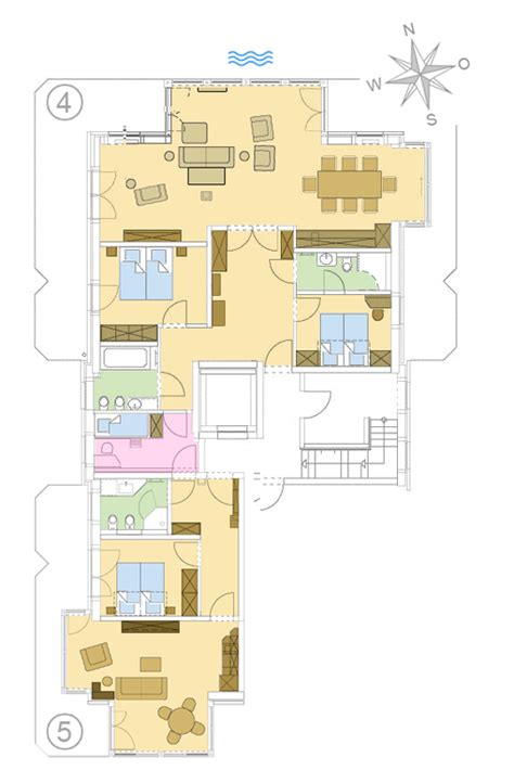 grundrisse 4 schlafzimmer apartments strandresidenz k 252 hlungsborn