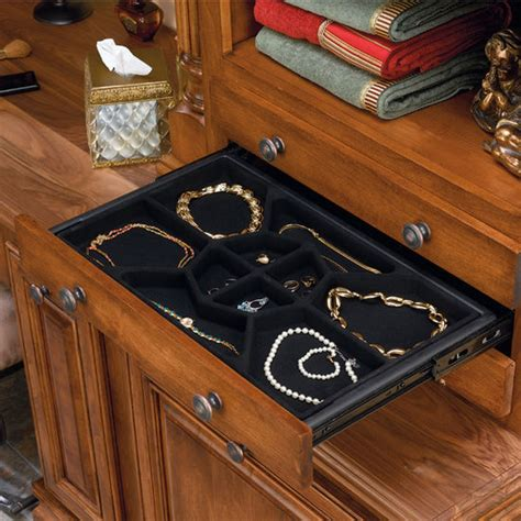 Jewelry Inserts For Drawers by Jewelry Storage Jewelry Drawer W Extension Slides