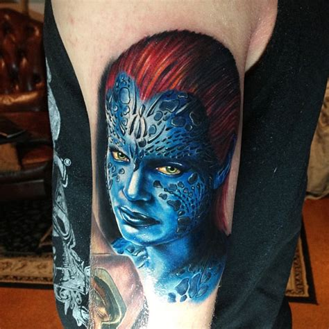 x tattoo on arm x men beast tattoo on right arm