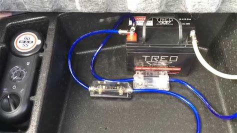 installation second battery for car audio custom 2010