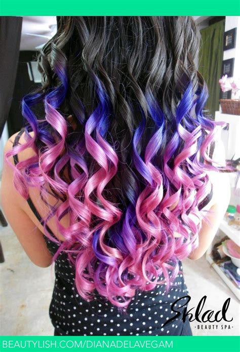 pink and purple ombre blonde hair with purple peekaboos hot girls wallpaper