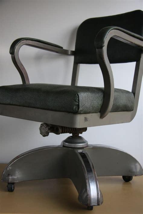 industrial metal desk chair vtg machine age mid century modern retro industrial tanker