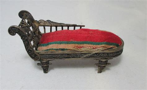 pin cushion couch pin cushion shaped as a fainting couch or settee antique