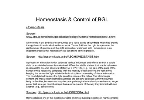 Homeostasis Essay by Essays On Homeostasis