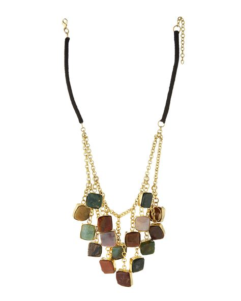 Kenneth Lanes Lipstick Necklace At Outfitters by Kenneth Jade Agate Station Drop Necklace Lyst
