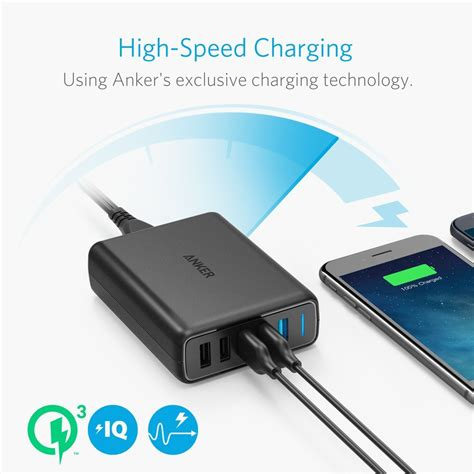 Powerport Speed 5 With Dual Charge 3 0 Black A 2054k11 anker powerport speed 5 dual qc 3 0 black 18 month warranty a store