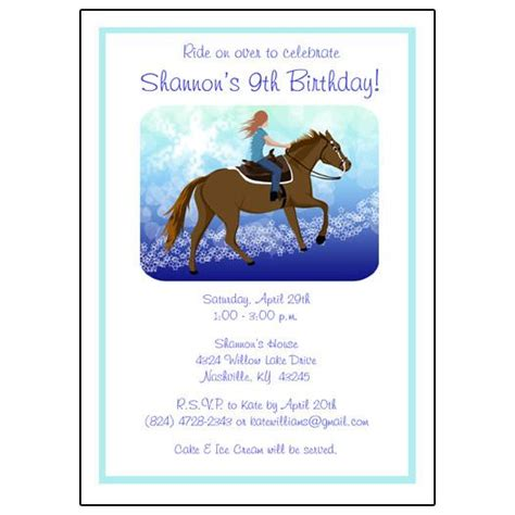 personalized birthday invitations horse by littlebeaneboutique horse dreams birthday party invitation mandys moon