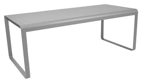 porte de service metal 2778 table bellevie l 196 cm 8 224 10 personnes gris m 233 tal