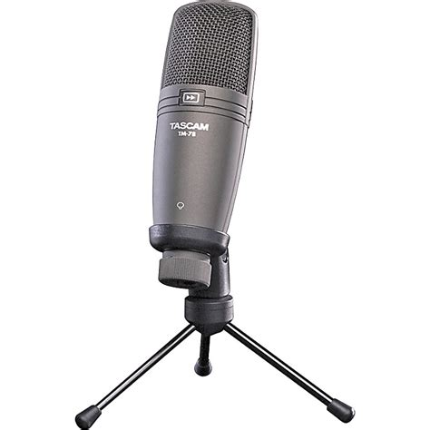 true capacitor microphone tascam tm78 condenser microphone musician s friend