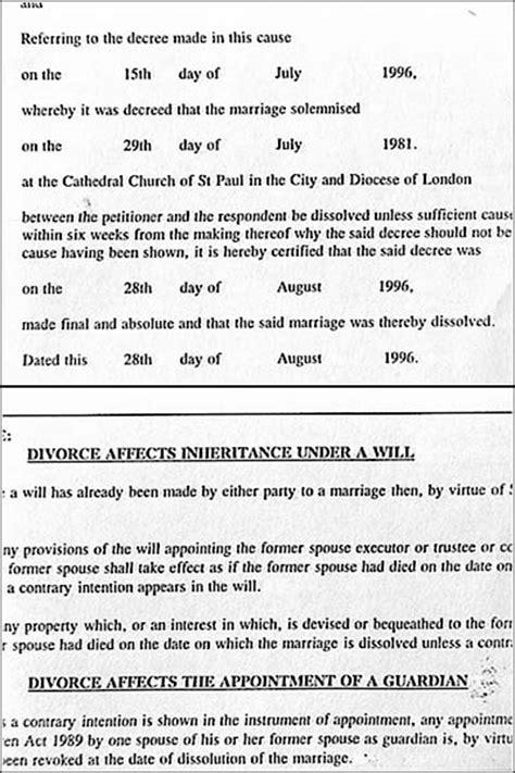 Is A Divorce Decree Record Divorce Decree Absolute