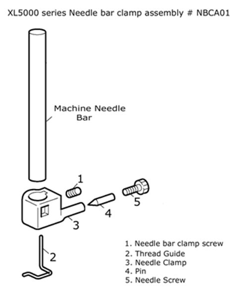 needle clamp assembly nbc01 brother brother machines