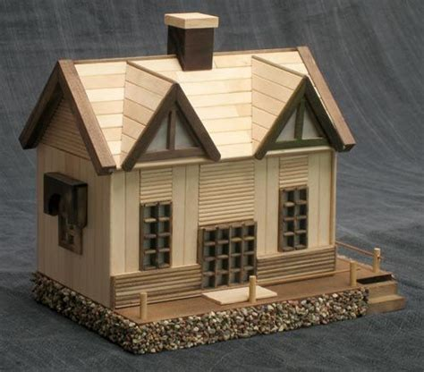 How To Make A 3d House Out Of Paper - 17 best ideas about popsicle stick houses on