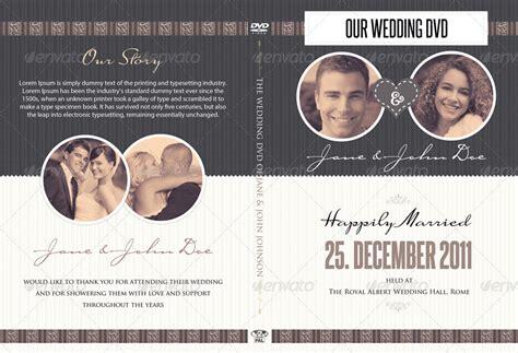 wedding cddvd cover  psd brochure template