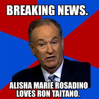 Breaking News Meme - meme creator breaking news alisha marie rosadino loves