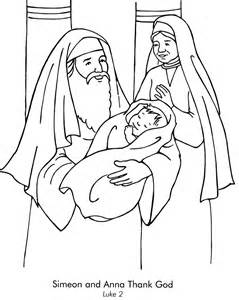 coloring pages baby jesus in the temple simeon and coloring page