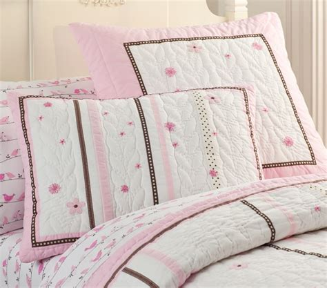 ribbon comforter hannah ribbon quilted bedding pottery barn kids