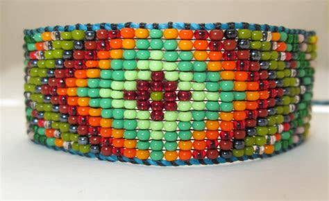 Huichol Native American Inspired Beaded Bracelet or Anklet   Original Design 23