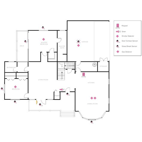 house layout planner house plan with security layout