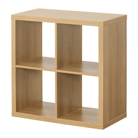kallax shelving unit oak effect 77x77 cm ikea