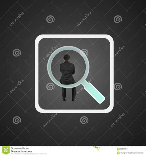 sitting app rear view businessman sitting on searching app icon stock photo image 59879216