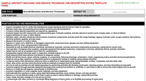 Aircraft Mechanic Description by Service Technician Description Driverlayer Search Engine