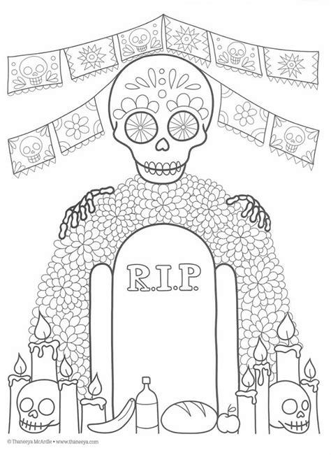 imagenes para colorear ofrendas dia muertos dibujos para colorear el d 237 a de los muertos 39