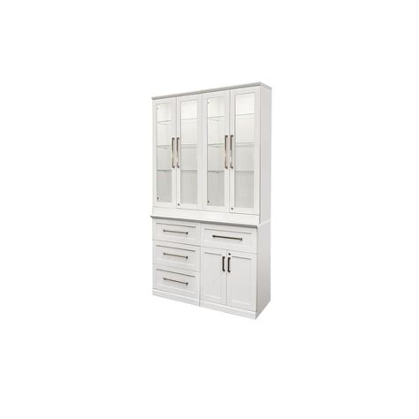 newage products white woodgrain bar cabinet 60065 the