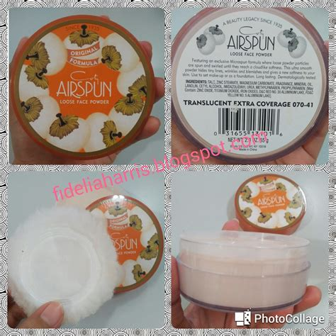 Bedak Airspun and makeup review coty airspun translucent