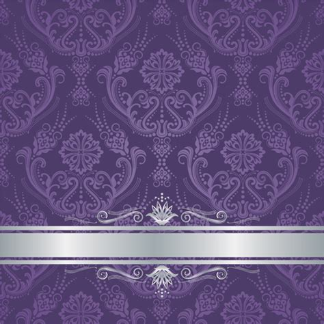 purple with silver luxury purple floral damask cover with silver border