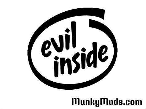 Evil Inside by Quot Evil Inside Logo Quot Vinyl Decal Applique