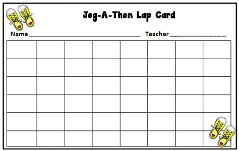 walk a thon card template jog a thon pta on pizza brain breaks