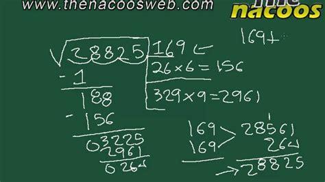 como se hace raiz cuadrada como encontrar la ra 237 z cuadrada de una cifra youtube