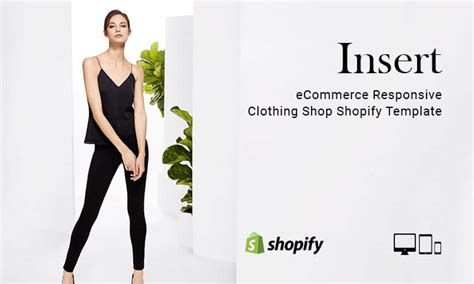 insert ecommerce responsive clothing shop shopify