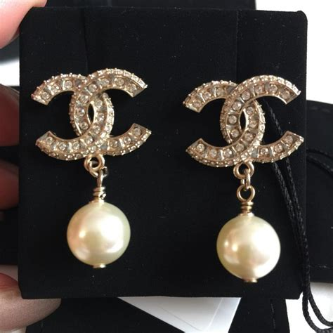 Chanel Reborn 4 In 1 chanel gold cc pearl drop in earrings tradesy