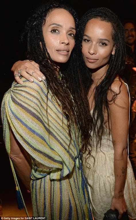 Lisa Bonet and ex husband Lenny Kravitz unite to join daughter Zoe on night out   Daily Mail Online